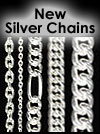silver sterling chains in 925 silver, machinemade silver chains